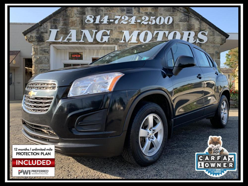 2016 Black Granite Metallic /Jet Black Chevrolet Trax LS AWD (KL7CJNSB9GB) with an 1.4L L4 DOHC 16V engine, Automatic transmission, located at 821 Market Street, Meadville, PA, 16335, (814) 724-2500, 41.641064, -80.152435 - Photo #0