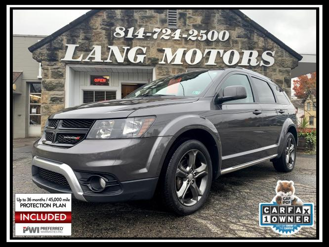 2015 Granite Crystal Metallic /Black Dodge Journey Crossroad AWD (3C4PDDGG1FT) with an 3.6L V6 DOHC 24V engine, 6-Speed Automatic transmission, located at 821 Market Street, Meadville, PA, 16335, (814) 724-2500, 41.641064, -80.152435 - Photo #0