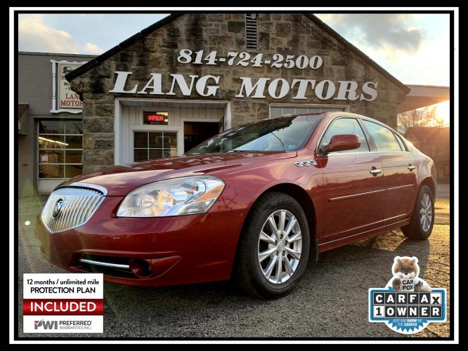 2011 Crystal Red Tintcoat /Light Gray Buick Lucerne CX (1G4HA5EM3BU) with an 3.9L V6 OHV 12V engine, 4-Speed Automatic transmission, located at 821 Market Street, Meadville, PA, 16335, (814) 724-2500, 41.641064, -80.152435 - Photo #0